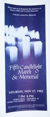 View Image 2 of 2 for Fifth Candlelight March and Memorial: Saturday, Nov 27, 1982 Inventory #177215