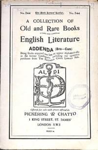 Catalogue 244/n.d. : Addenda. ( Bro-Cum)