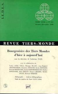 REVUE TIERS-MONDE TOME 31 NUMERO 124 1990