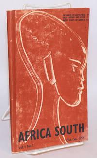 Africa South: Vol. 1, No. 1 Oct.-Dec. 1956