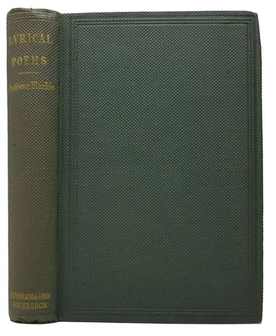 Edinburgh / London: Sutherland and Knox / Simpkin, Marshall, & Co, 1860. 1st Edition (NCBEL III, 510...