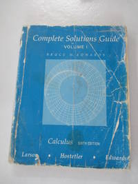 Calculus : Instructor's Solutions Guide