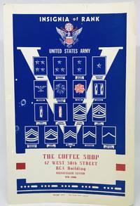 [MENU] [W.W.II] THE COFFEE SHOP Insignia of Rank - United States Army