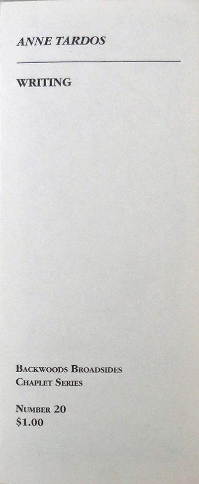 Ellsworth: Backwoods Broadsides, 2006. First edition. Paperback. Fine. Single sheet of paper, printe...