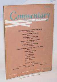 The Watts \'Manifesto\' & the McCone Report [article in] Commentary, volume forty-one, number three, March 1966