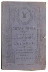 Souvenir Program Fourth Annual Elks' Night [Cover title]. .
