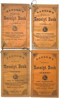 4 copies of Ransom's Family Receipt Book, 1880, 1881, 1885, 1886