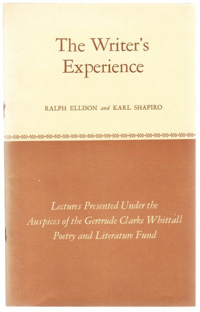 Washington, D.C.: Library of Congress, 1964. First edition. Softcover. Lectures by Ellison and Shapi...