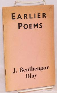 image of Earlier Poems