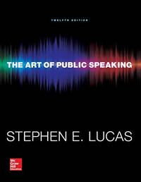 The Art of Public Speaking (Communication) Standalone Book by Stephen Lucas - Paperback - 12 - (10/09/2014) - from California Books Inc and Biblio.com