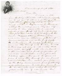 1840 illustrated William Henry Harrison 1840 campaign stampless letter sheet