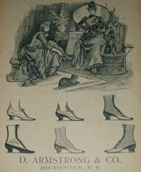image of Original 1890 Full Page Illustrated Advertisement for D. Armstrong Shoe  Company