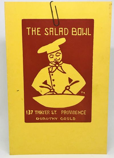 Providence, RI, 1942. Cards. Yellow cards with red illustrations. Very good. 23 x 15 cm. Color illus...
