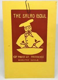 [MENU] THE SALAD BOWL 137 Thayer St. Providence, Dorothy Gould