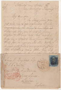 """image of ON ONE OCCASION THEY MET 14 MILES THIS SIDE OF ALTOON MORE THAN 200 STRIKERS."""" Letter from a prominent Pennsylvania woman to her overseas Naval Officer son describing the Philadelphia City Troop's response to the Great Railroad Strike of 1877"""
