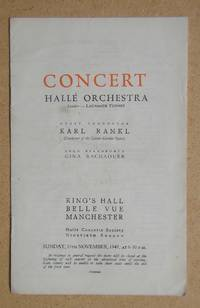 image of Halle Orchestra. Concert Programme. 16th November 1947.