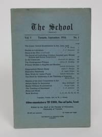 image of The School: Vol. V, No, 1. Toronto, September, 1916