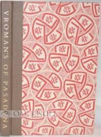 Pasadena CA: A.C. Vroman Inc, 1994. quarter cloth, patterned paper-covered boards. Vroman's. 8vo. qu...