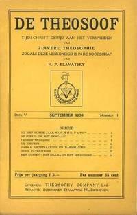 De Theosoof, tijdschrift gewijd aan het verspreiden van zuivere theosophie zooals deze verkondigd is in de boodschap van H.P. Blavatsky. Deel V, 1933-1934