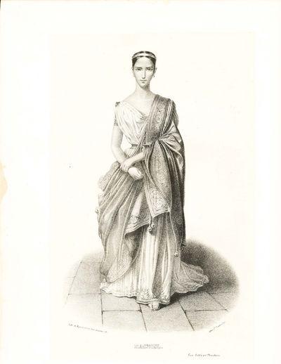 Paris: Marchant, 1841. Rachel (Elisa Felix 1820-58). Lithograph of the actress as Hermione in the 4t...