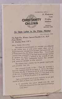 An Open Letter to the Prime Minister 11th February, 1943