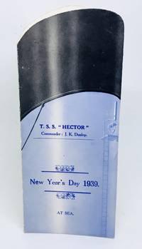 [MENU] T.S.S. HECTOR New Year's Day 1939, At Sea