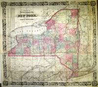 COLTON'S RAILROAD & TOWNSHIP MAP OF THE STATE OF NEW YORK, WITH PARTS OF THE ADJOINING STATES & CANADA
