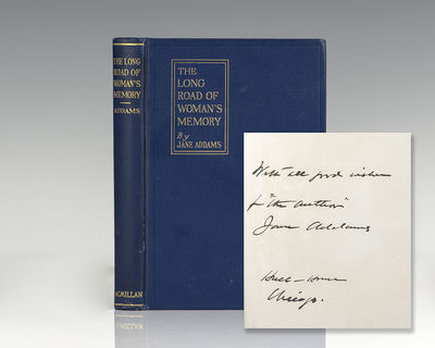 New York: The Macmillan Company, 1917. First edition, second printing of Addams' work exploring the ...