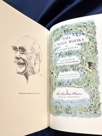image of THE JUNGLE BOOKS; By Rudyard Kipling / Illustratrated by David Gentleman / Collectors Edition Bound in Genuine Leather