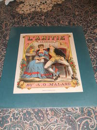 image of Original 1877 Lithograph, the Cover of L'Amitie Serenade Sheet Music