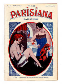 image of Parisiana / Jeudi 16 Octobre 1930 / Art Deco/Nouveau; pin-up; light erotica; cover art by Jack Abeille; rear cover art by Rene Giffey