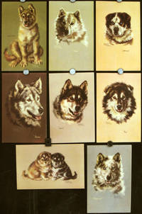 Nine Alaska Steamship Company Menus with portraits of Huskies