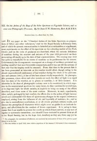 INVENTION OF THE PHOTOCOPY:  On the Action of the Rays of the Solar Spectrum on Vegetable...