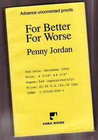 For Better for Worse ....Advance Uncorrected Proofs