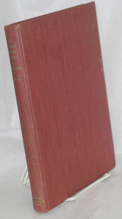 Cambridge: Harvard University Press, 1953. Hardcover. viii, , 183p., tables, previous owner's name, ...