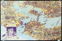 [Untitled pictorial map showing San Francisco and 1939 Treasure Island Exposition, inset image of Treasure Island Branch Bank of America Your Exposition Headquarters]