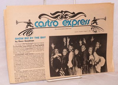San Francisco: Castro Express, 1982. Newspaper. folded tabloid entertainment newspaper, photos, revi...
