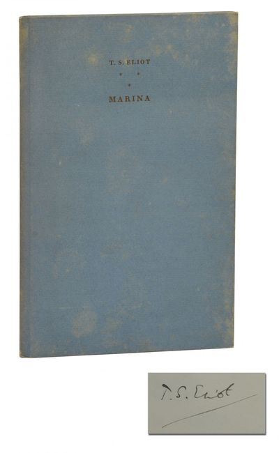 London: Faber and Faber, 1930. First Edition. Very Good. First large paper edition. Signed limited e...