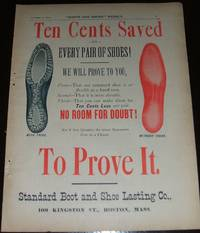image of Original 1890 Full Page Color Illustrated Advertisement for Standard Boot  and Shoe