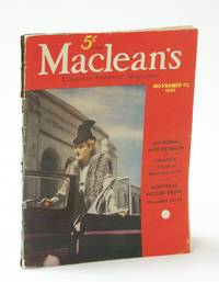 Maclean's, Canada's National Magazine, November (Nov.) 15, 1937 - Motor Shows in Toronto and Montreal / N.H.L. President Frank Calder