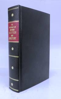 The Province of Ontario Gazetteer and Directory by  H. (ed.) MCEVOY  - Hardcover  - 1869  - from Attic Books (SKU: 120532)