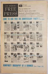 image of Los Angeles Free Press: vol. 5, #28 (#208) July 12-18, 1968: Come to Our Free 4th Anniversary party