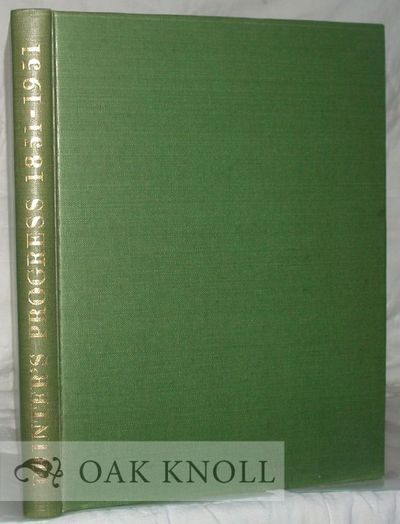 Cambridge: Harvard Univ. Press, 1951. cloth. 4to. cloth. (xxiv), 125 pages. First U.S. edition. Give...