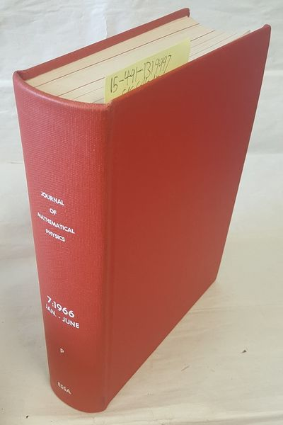 New York: American Institute of Physics, 1966. Hardcover. Quarto; G+ Hardcover; Red spine with White...