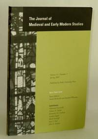 Journal of Medieval and Early Modern Studies, Volume 31, Number 2, Spring 2001; Open-Topic Issue