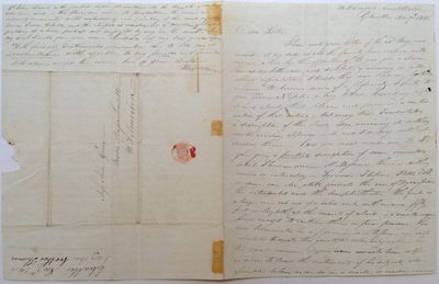 Gibralter, 1816. unbound. 4 pages (front and back), 9 x 7 inches, Gibralter, November 7, 1816. Writt...