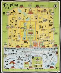A Pictorial Map of Peiping in full colours. Map title: Peiping.