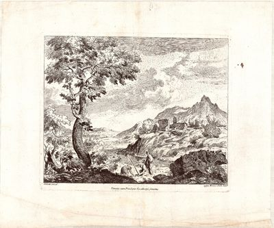 Suite of four etchings depicting...