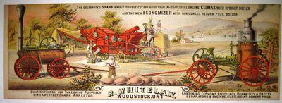 : A.H. Correl & Co. Propr's, Toronto Lith. Co., 1880. Pictorial broadside, oblong, 5.75