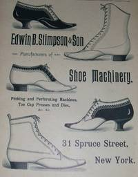 image of An Original 1890 Full Page Advertisement for E. P. Stimpson and Son Shoe  Manufacturers